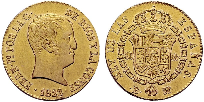 80 reales 1822
