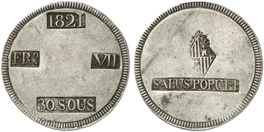 30 sous 1821