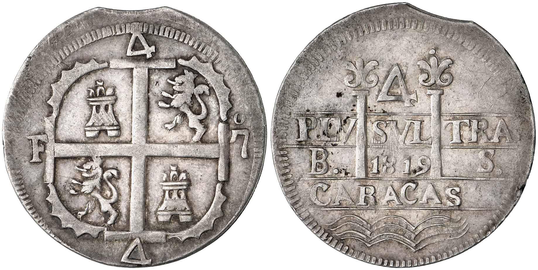4 escudos Caracas final de riel