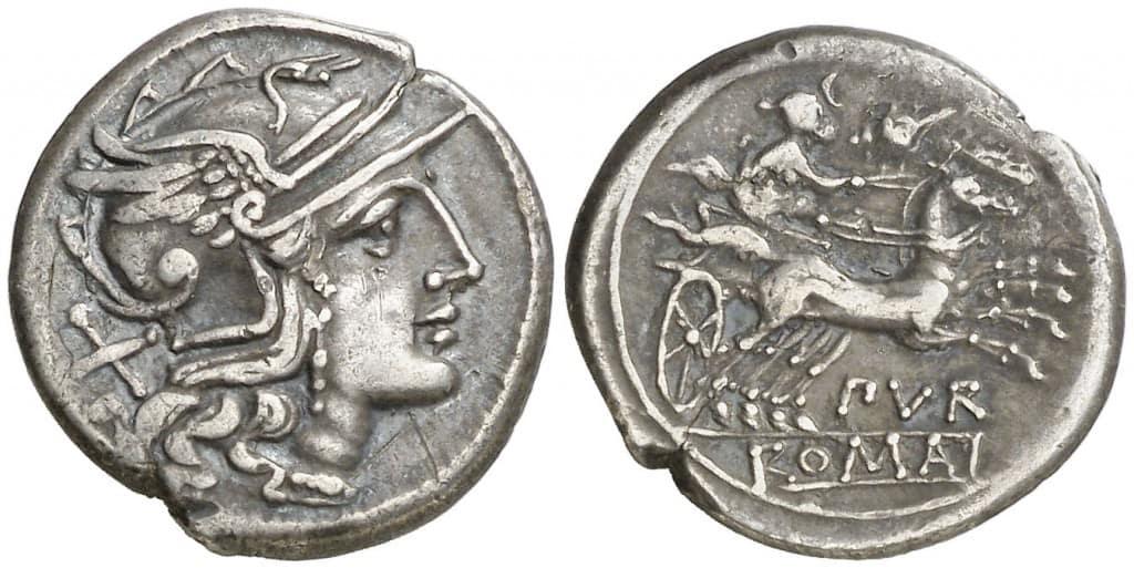 denario furius purpeus