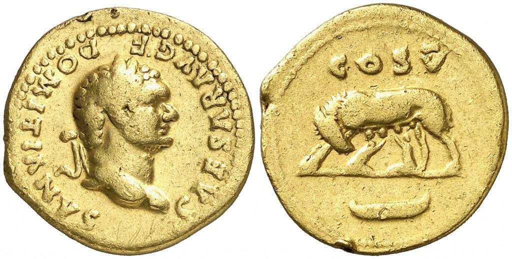 aureo Domiciano con loba