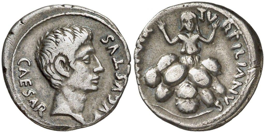 denario Augusto Tarpeia