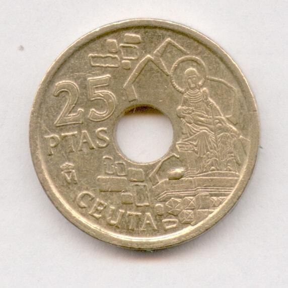 25 pesetas 1998 Ceuta