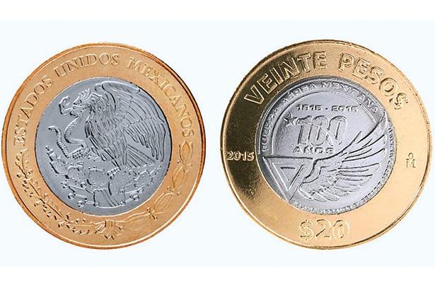 México, 20 pesos conmemorativos de la Fuerza Aérea
