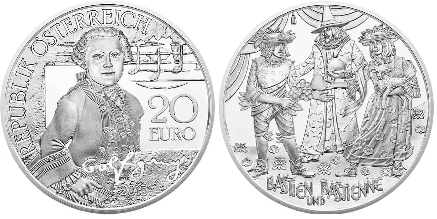 Austria, 10 euros homenaje a Mozart