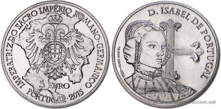 Portugal, 5 euros homenaje a Isabel de Portugal
