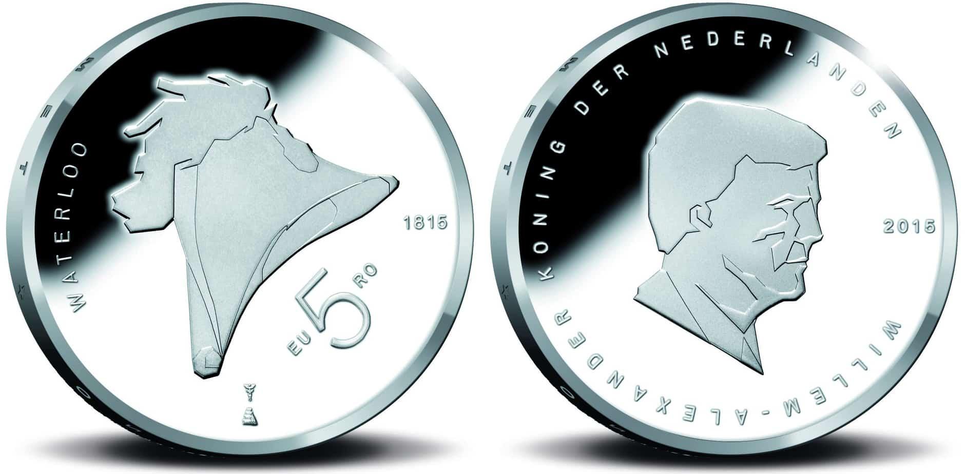 Holanda, 10 euros conmemorativa de la Batalla de Waterloo