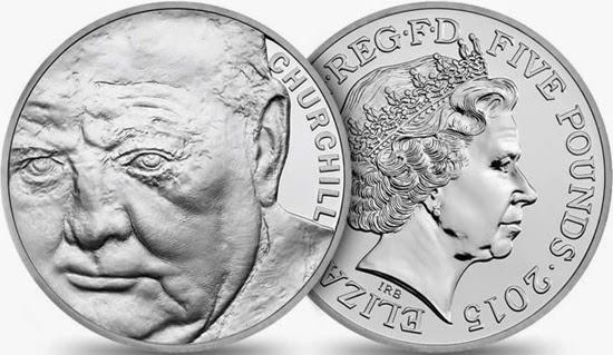 Reino Unido, 5 libras homaneja a Churchill