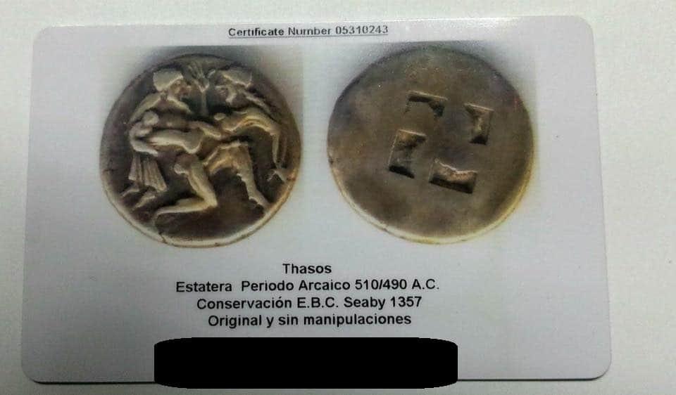 certificado de moneda
