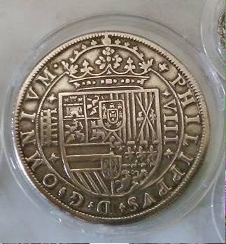 8 reales Segovia falso