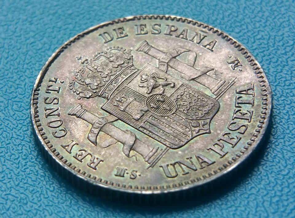 1 peseta 1885
