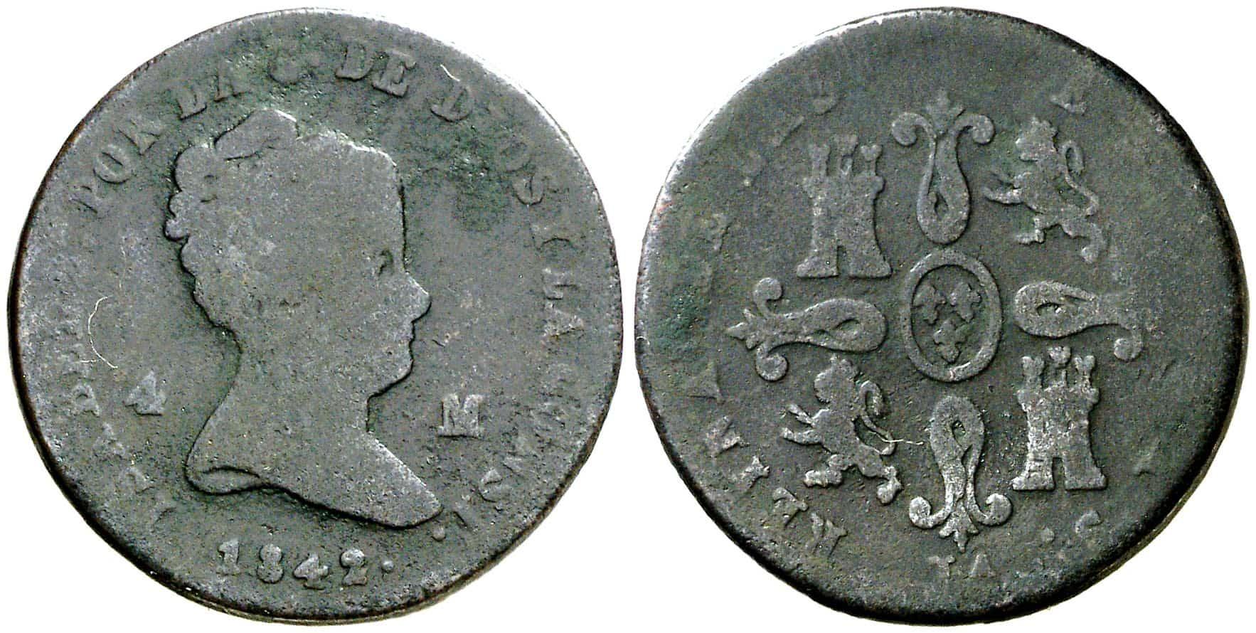 4 maravedís Jubia 1842