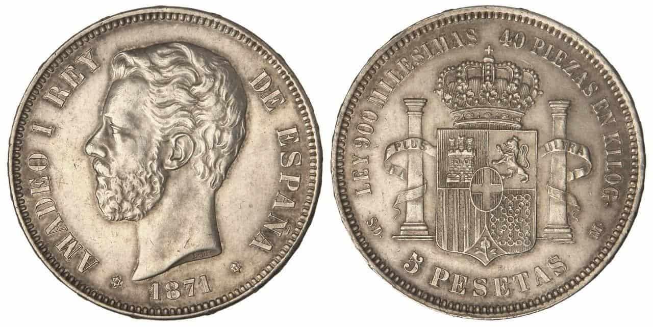 5 pesetas 1871