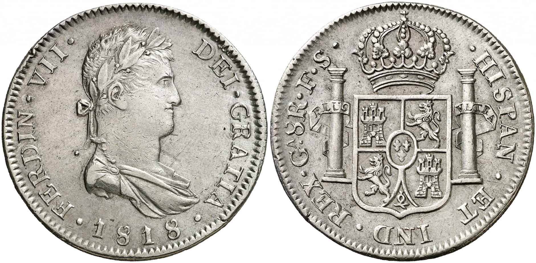 8 reales Guadelajara 1818