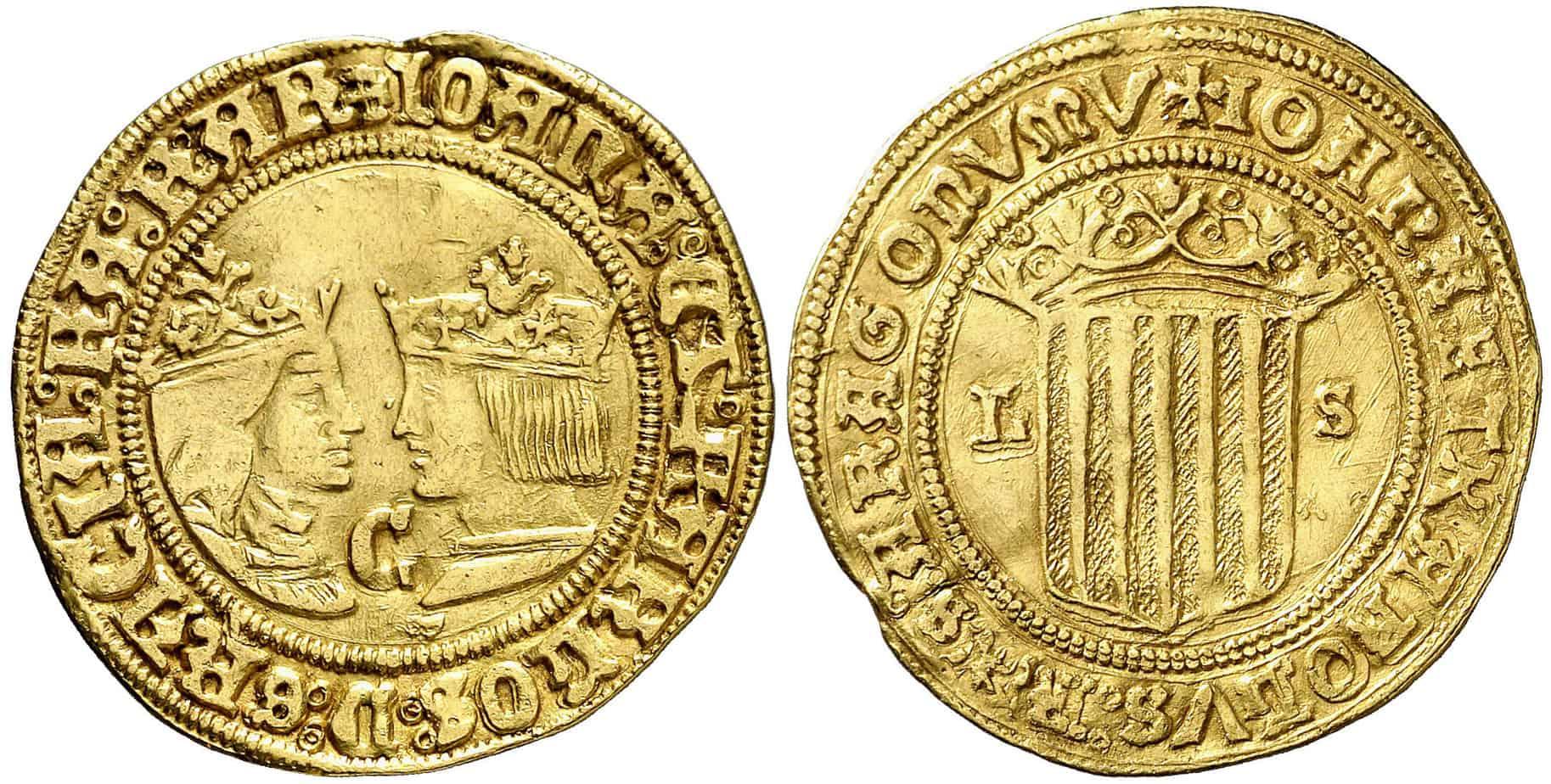 2 ducados Zaragoza Juana y Carlos