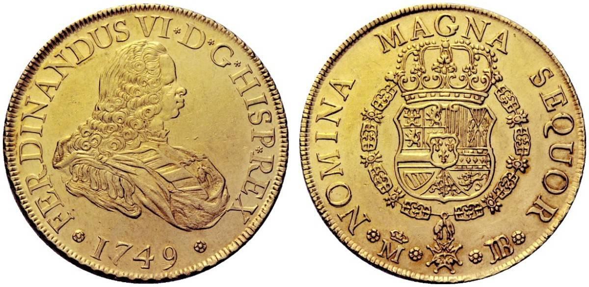 8 escudos México 1749