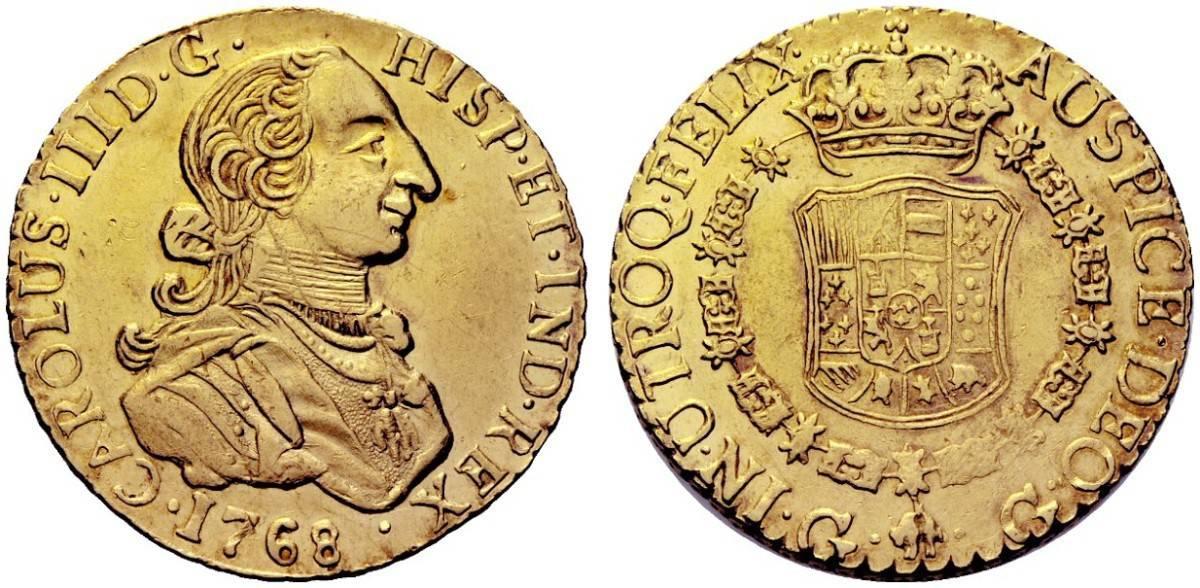 8 escudos Guatemala 1768