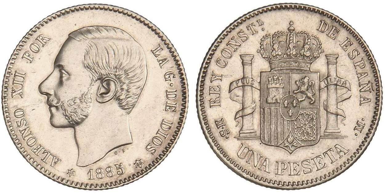 peseta 1885 18-86