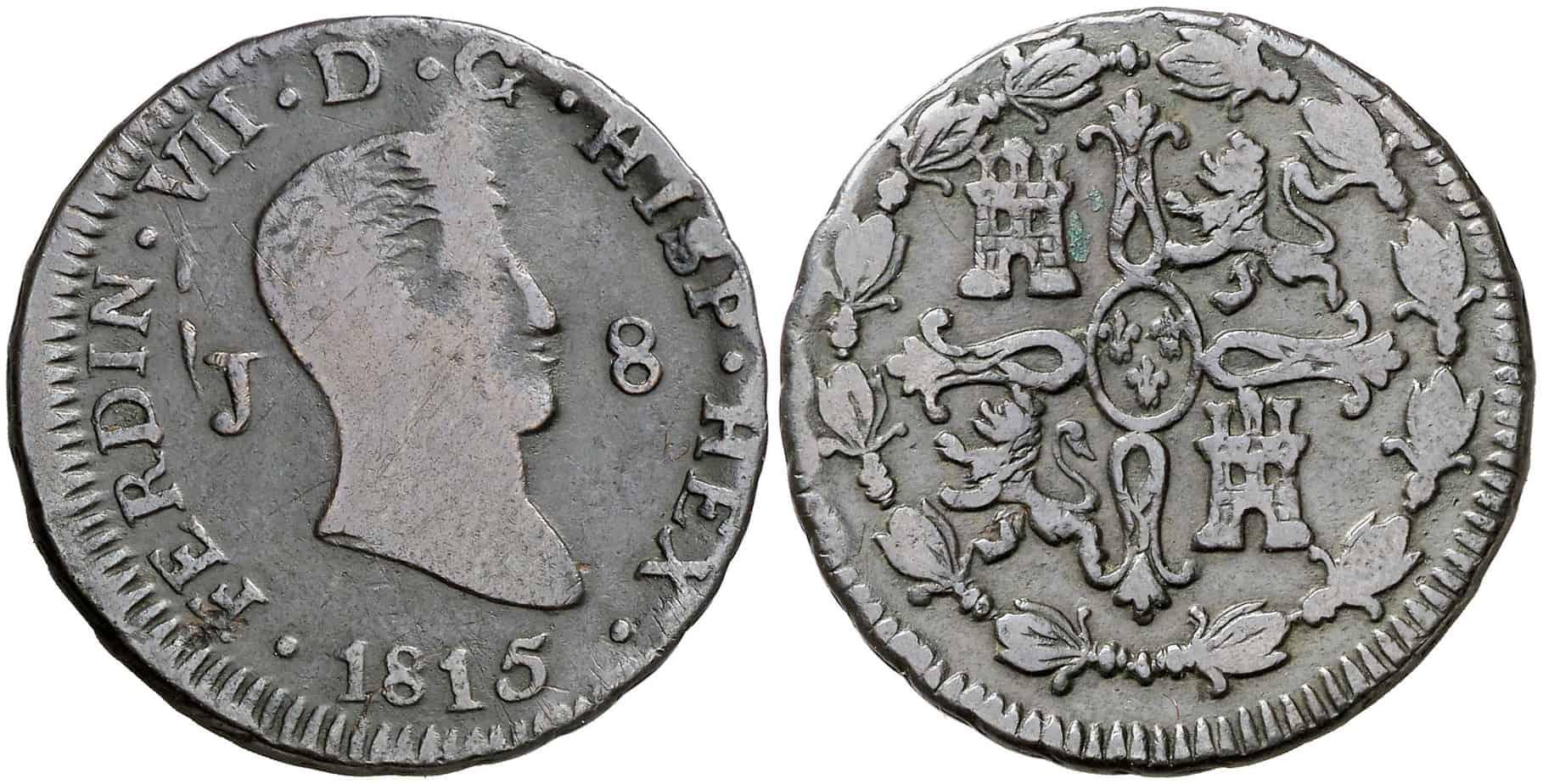 8 maravedis Jubia 1815