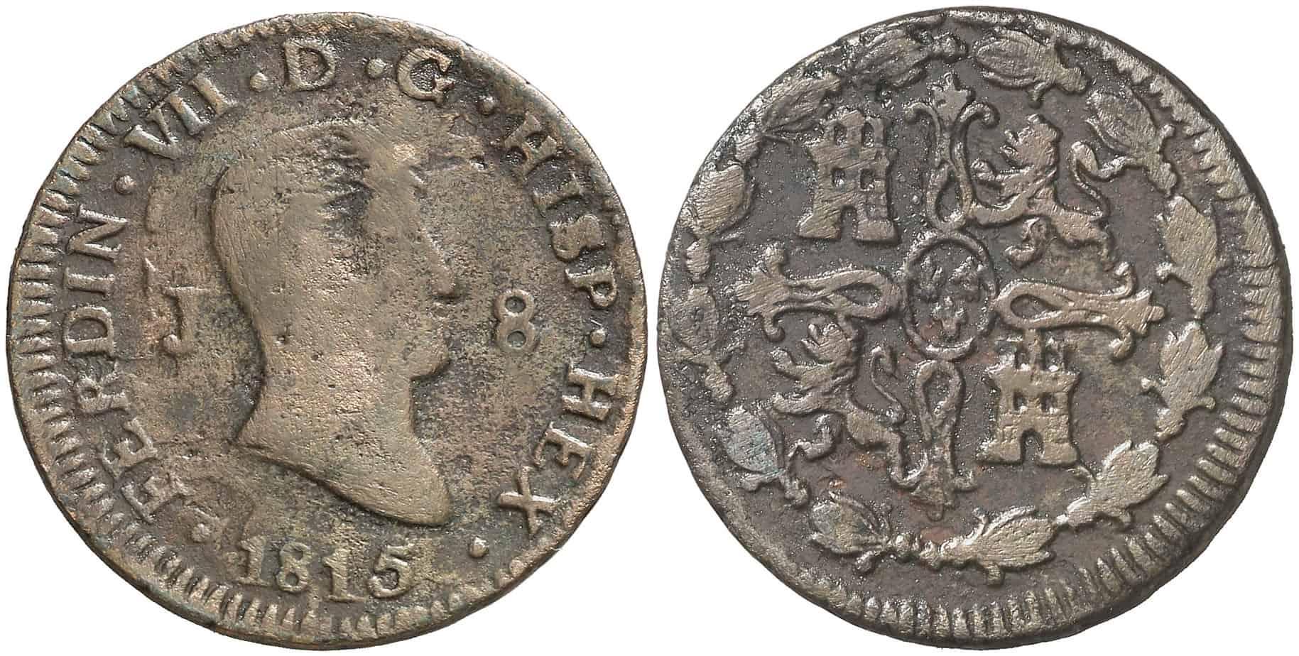 8 maravedíes Jubia Fernando VII