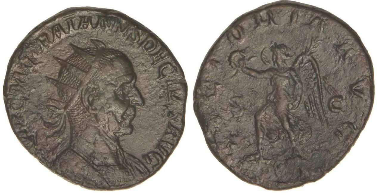 doble sestercio Trajano Decio