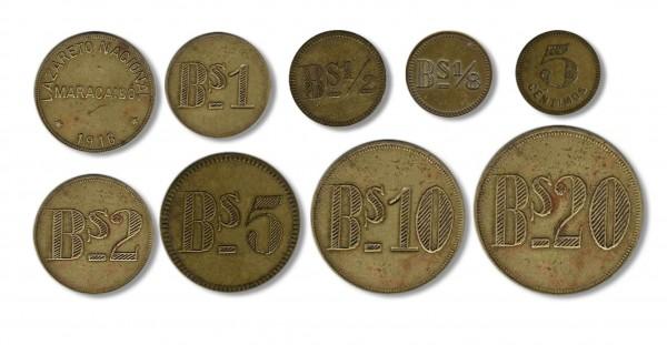 monedas lazaretos Venezuela