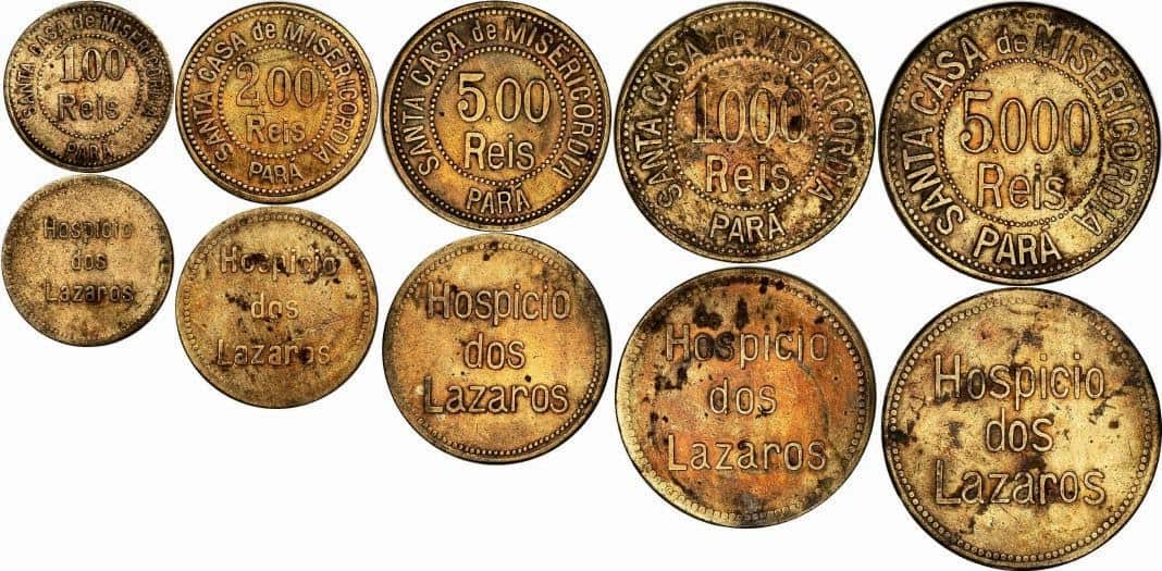 monedas lazaretos Brasil