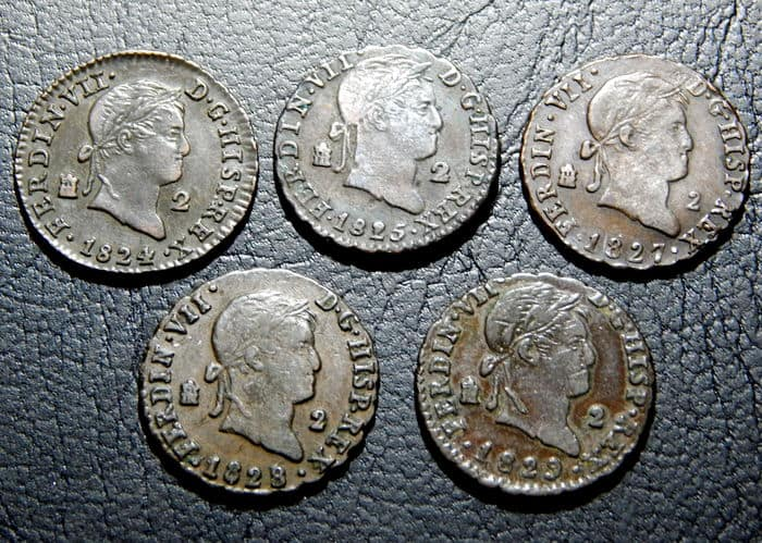 2 maravedises Fernando VII
