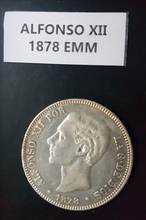 lote 5 pesetas 1878