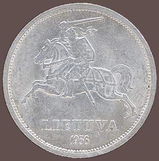 5 litas de 1936