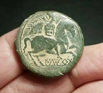moneda con tierra