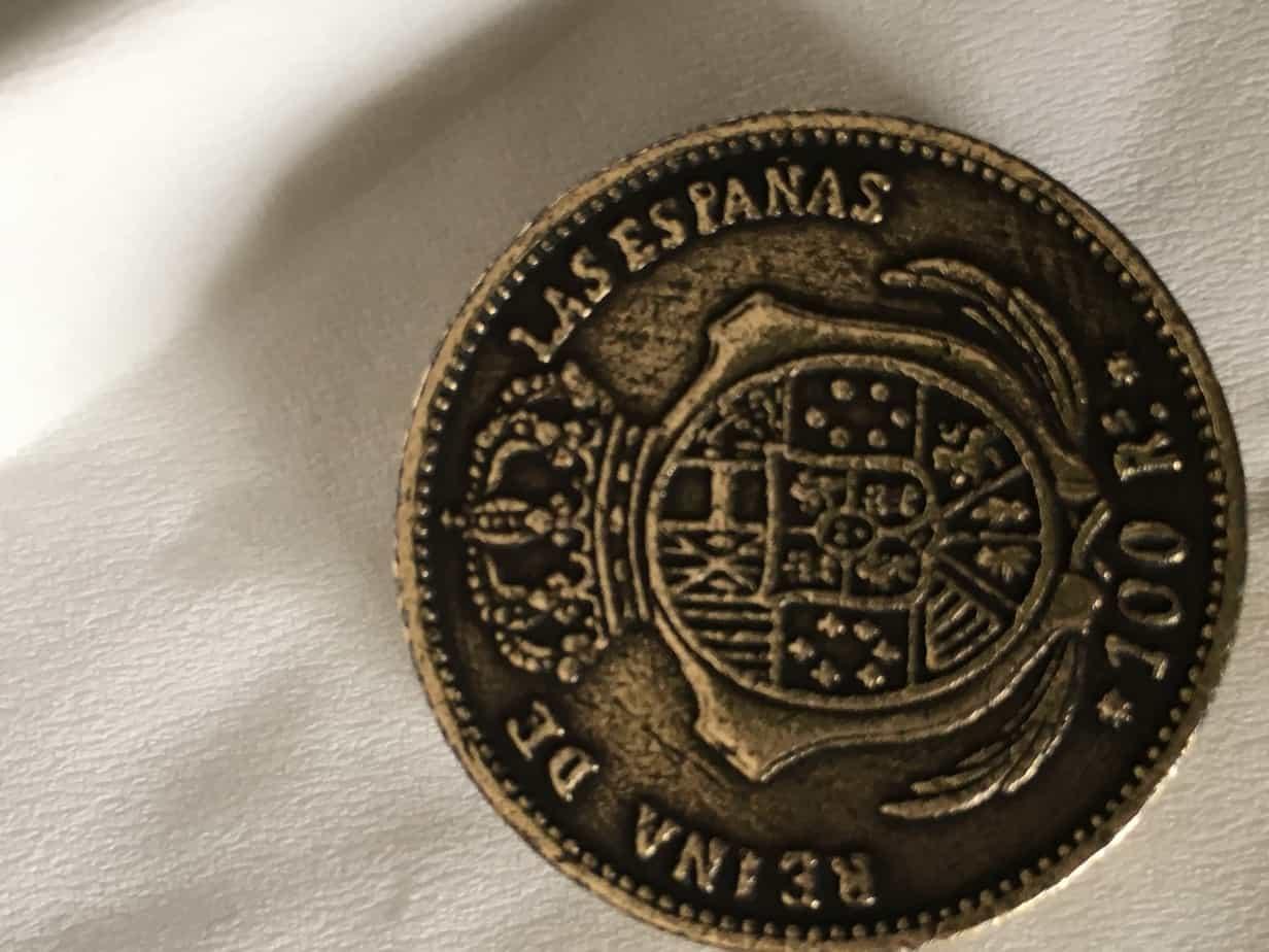 moneda Isabel II falsa