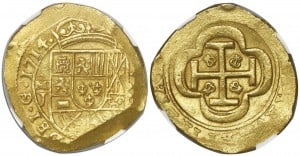 8 escudos 1714, México