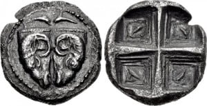 Tridracma de Delfi
