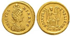 Sólido de Aelia Eudoxia, Constantinopla