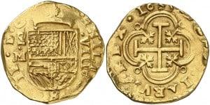 8 escudos Madrid 1635