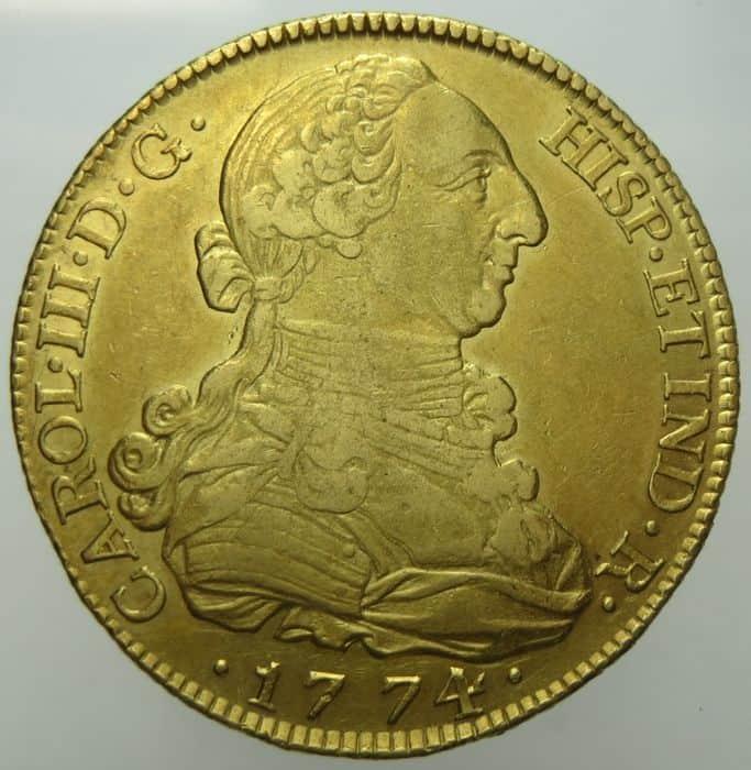 8 escudos 1774