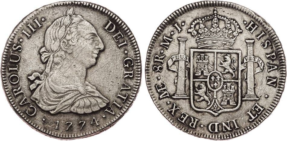 8 reales 1774