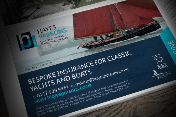 Hayes Parsons half page ad