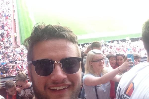 Josh @ a football match