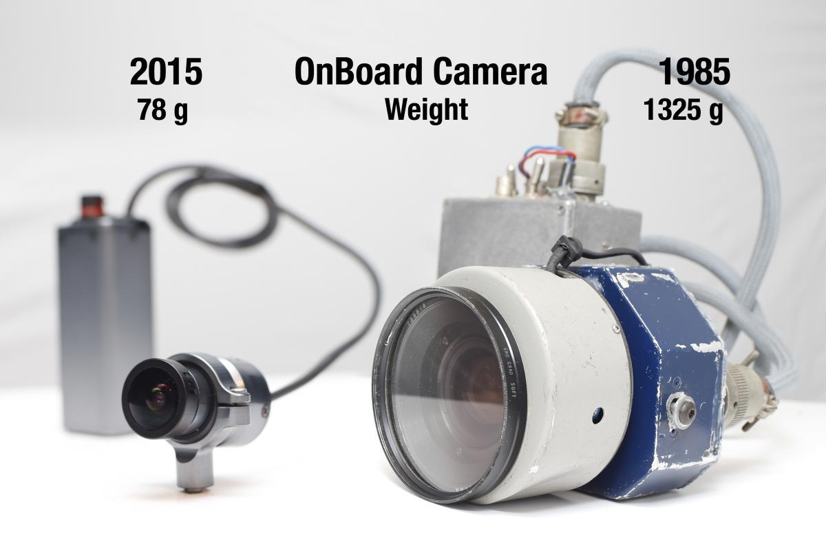 Comparación de una cámara on board actual y una de 1985