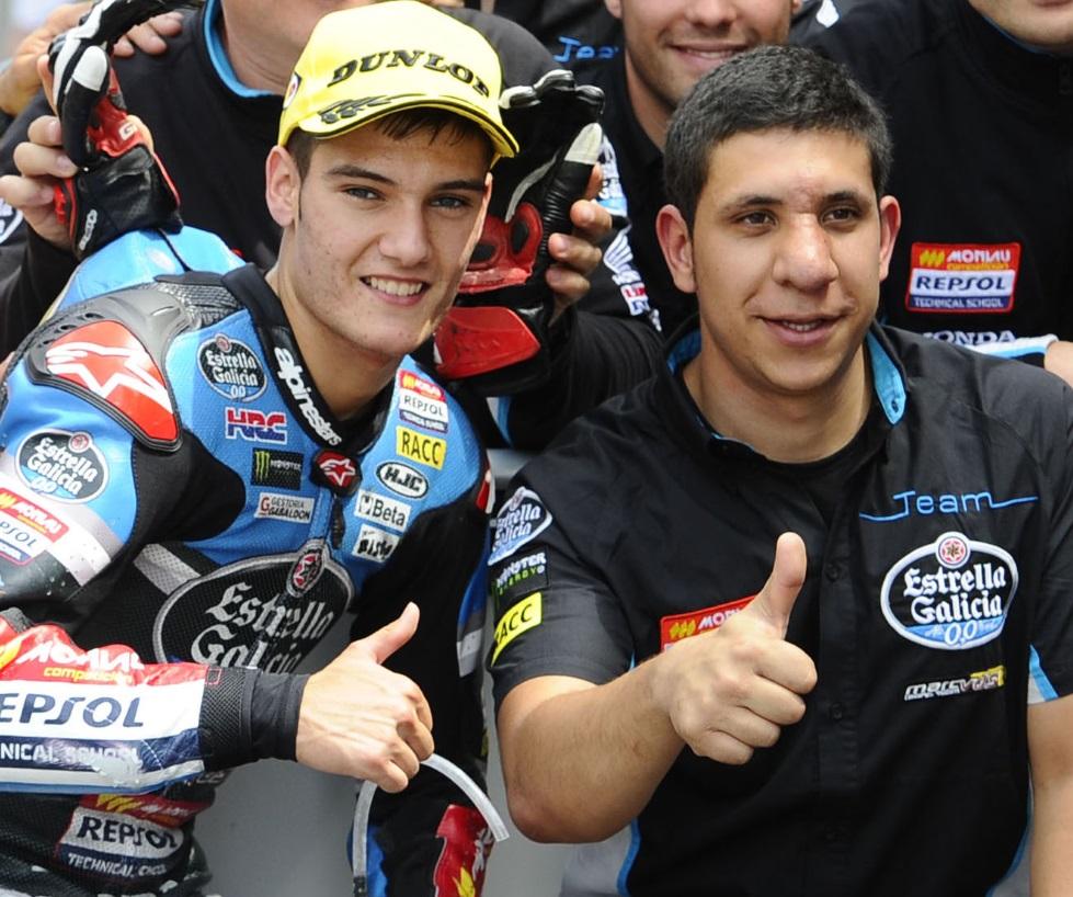 Jorge Navarro con Antonio Multo