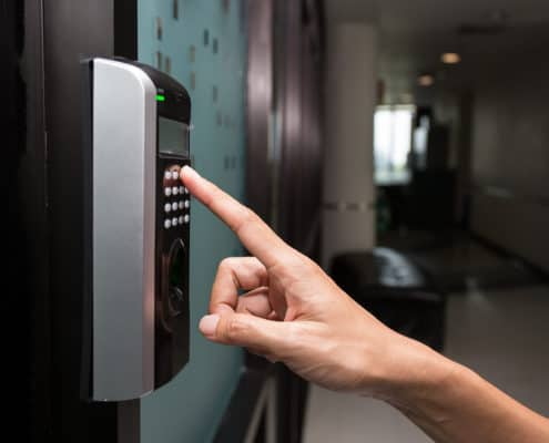 Biometric office access controls