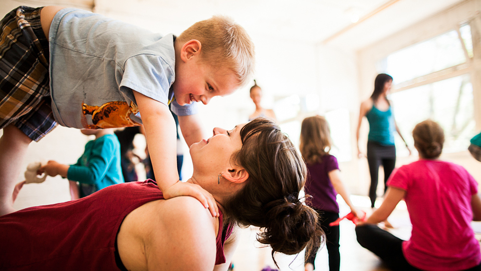 Mum and toddler yoga party