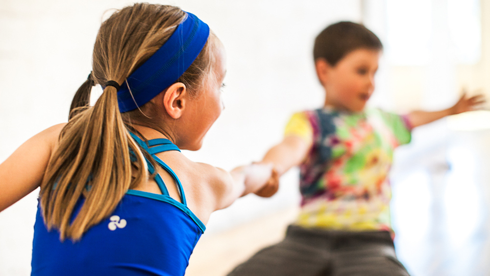 Kids yoga party fitness