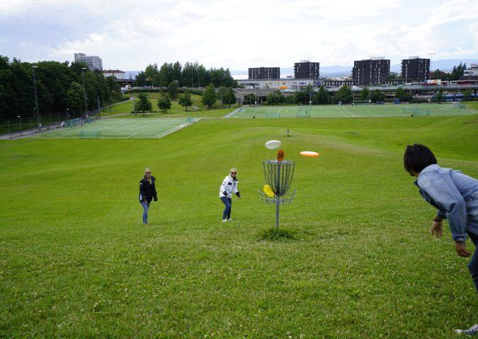 Frisbeegolf på Muselunden