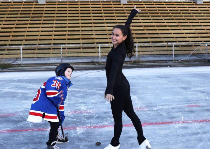 Ishockey og kunstløp på Valle Hovin