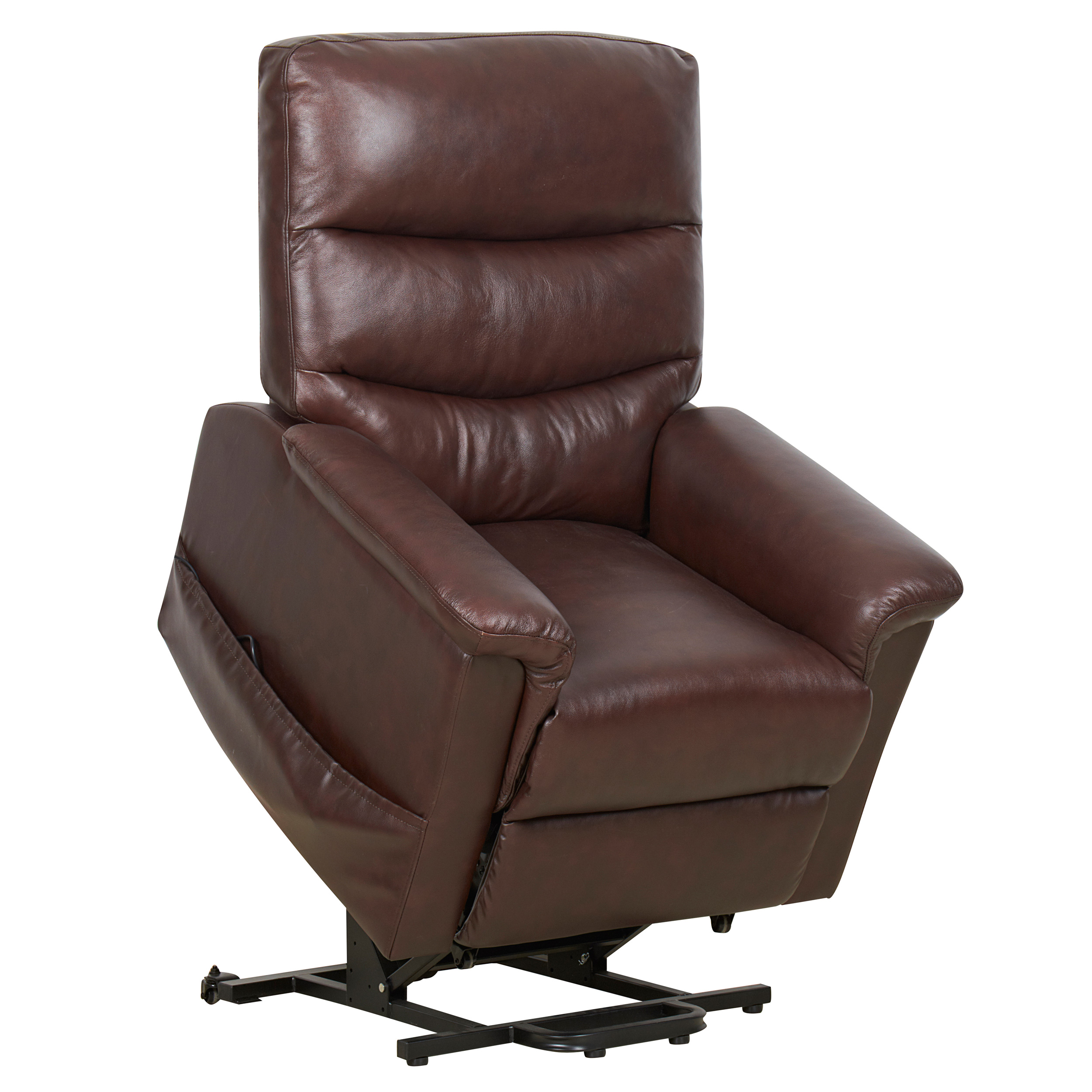 Kenmure Leather Dual Motor Riser Recliner With Heat And Massage EBay