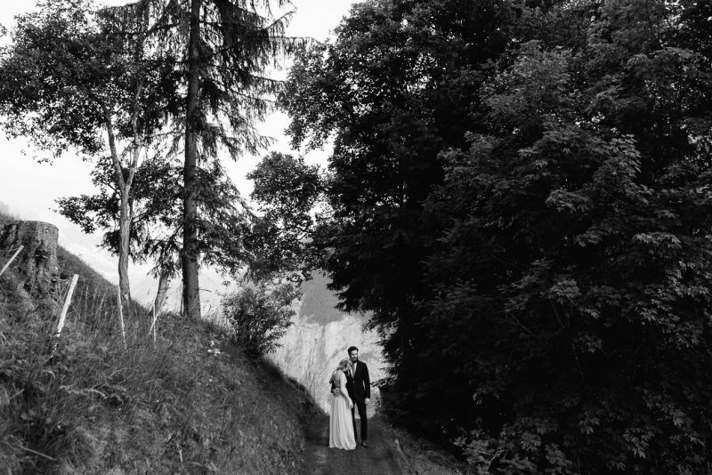 Wedding photography in Switzerland for cool couples