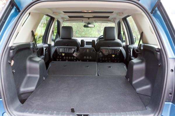 Land Rover Freelander boot folded